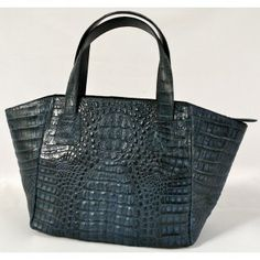 Angel Lin Mimi Handmade Genuine Exotic Leather Crocodile Skin Women Designer Handbag By Nancyboutique