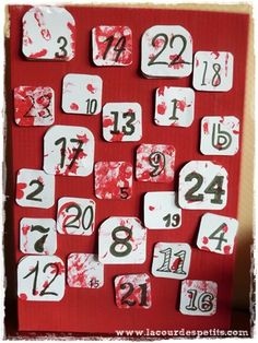 Calendrier avent rouge