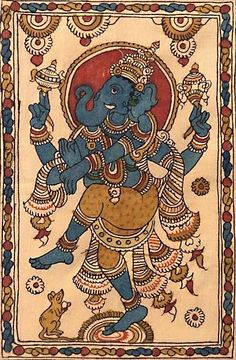 Kerala Mural Painting, Indian Art Paintings, Abstract Paintings, Oil Paintings, Ganesha Painting, Ganesha Art, Madhubani Art, Madhubani Painting, Tantra Art