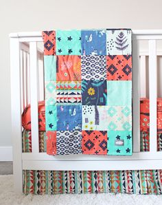 Custom Crib Bedding Navajo Baby Bedding by GiggleSixBaby on Etsy Tribal Nursery, Baby Bedding, Navajo, Cribs, Quilts, Blanket, Trending Outfits, Handmade Gifts, Etsy
