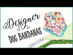 DIY dog bandana slip through collar design FREE PATTERN with Lisa Pay - YouTube