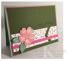 """Pink Birthday Blossoms is made with Stampin' Up's """"Birthday Blossoms"""" stamp set."""