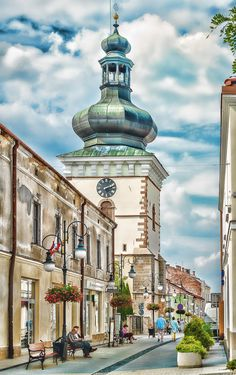 Narrow street of the old town - Krosno City - South of Poland by Marian Latocha on 500px