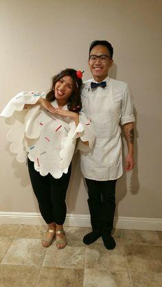 DIY Halloween couples costume #icecream #costume #diy #halloween #couples