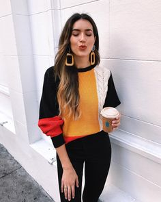 24.1 тыс. отметок «Нравится», 383 комментариев — BRITTANY XAVIER (@thriftsandthreads) в Instagram: «Kisses from cozy SF new post on the blog featuring my top 5 color block sweaters, including this…»
