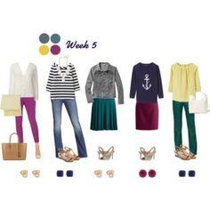 Work Capsule Wardrobe 5: Berry, Teal & Navy