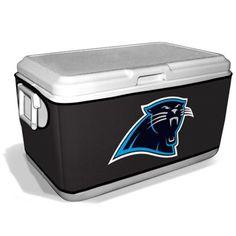 Carolina Panthers 48-Quart Cooler Coozie – Black
