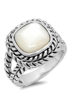 Antique Mother of Pearl Ring by Regal jewelry Inc. on @HauteLook