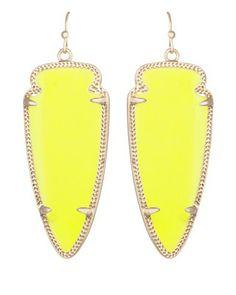 Skylar Earrings in Neon Yellow - Kendra Scott Jewelry.