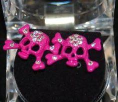 <3<3 Pink Skull Studs <3<3