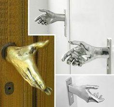 Spoon Shape Door Handle Golden Brass Handmade Restaurant Kitchen Door Handle CS3