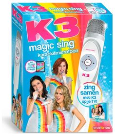 Zing mee met de meiden van K3, of zing alleen. Mooie karaokeset met de mooiste liedjes van Hanne, Marthe en Klaasje.