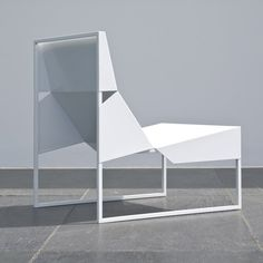 Paper Lounge Chair by Branca Lisboa #chair, #lounge, #steel