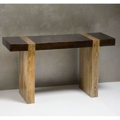 Chunky Wood Modern Rustic Console Sofa Table: Furniture
