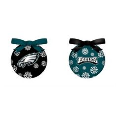Philadelphia Eagles Ball Ornament 6 Piece LED Box Set
