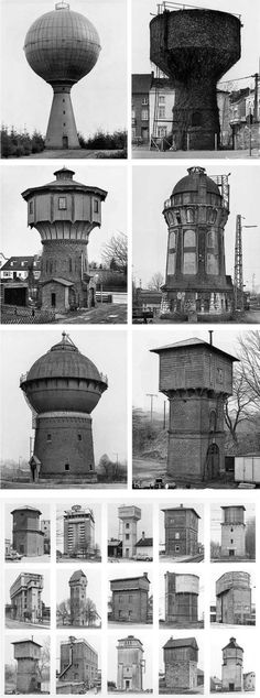Bernd and Hilla Becher were a German photographer team and a married couple, best- known for their collection of industrial building images examining the similarities and differences in structure and appearance.