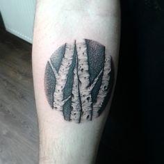 Dot work birch trees - suchaiglatattoo