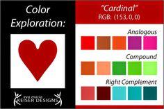 ❤ =^..^= ❤ Eva Maria Keiser Designs: Explore Color:  Cardinal