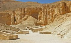 The Valley of the Kings was the royal cemetery for 62 Pharaohs and is located on the west bank at Luxor. The only entrance to this place was a long narrow winding path. This was a secret place, where sentries were placed at the entrance of the Valley. Do you know about this Valley? #Egypt  #Tour #Vacation