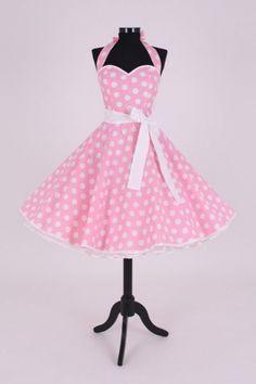 Petticoatkleider - petticoatkleid rosa/weiß art. Rosa - ein designerstück von atelier-belle-couture bei dawanda. Vintage Style Dresses, 50s Dresses, Cute Dresses, Summer Dresses, Formal Dresses, Pink Fashion, Retro Fashion, Vintage Fashion, Fashion Outfits