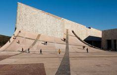 The architect Peter Eisenman built a 'city of culture' called 'Cidade da Cultura de Galicia' in Santiago de Compostela, Spain.