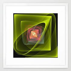 A magical fold up, translucent fractal abstract. Framed Art Print