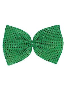 Check out St. Patrick's Day Giant Green Sequin Bow Tie - St. Patrick's Day Accessories from Wholesale Halloween Costumes