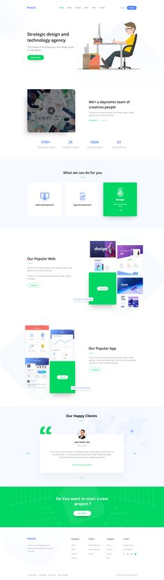 Digital agency landing page concept by Shah Alam