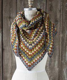 Half a Granny Square Shawl  ~ free pattern ᛡ