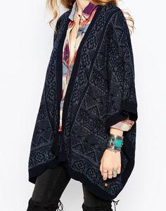 Image 3 ofPepe Jeans Bicolour Jacquard Cardigan