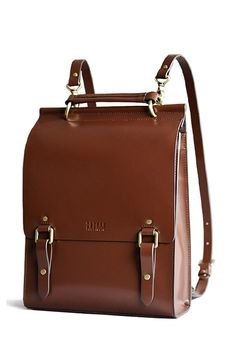VIEWINBOX - Solid Color Buckle Design Backpack Genuine leather is sustainable and lasts! Vegan leather creates air pollution and is plastic. Be real, people! Follow me @dianawalkerco (I follow back!)
