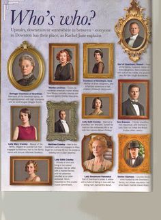 Who's who in Downton Abbey.