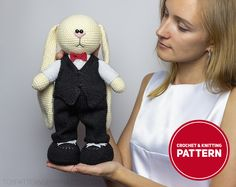 Knitting Patterns, Crochet Patterns, Crochet Shoes Pattern, Suit Shirts, Bunny Toys, Tie Shoes, Crochet Bunny, Pattern Mixing, Crochet Gifts