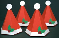 Santa Hat Favor or Gift Box  Small by PeadenScottDesigns on Etsy, $2.55
