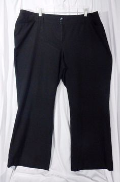 Lane Bryant Black Career Dress Pants Slacks Plus Size 24 2X #LaneBryant #DressPants