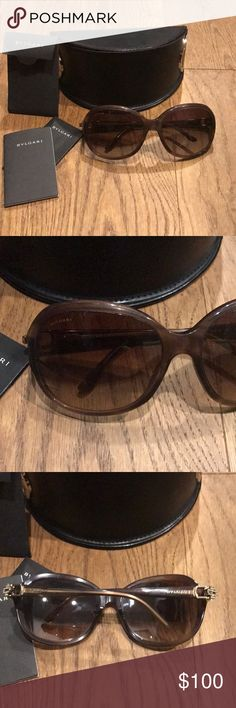 Bvlgari Sunglasses Good condition. Oversized round author bvlgari sunglasses. Comes with case and paperwork. Model 8107 bvlgari Accessories Sunglasses