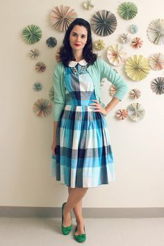 #plaid #collar #dress #stylegallery