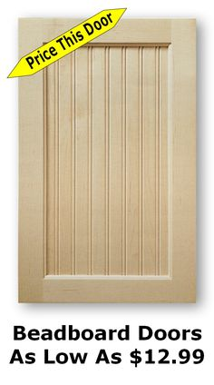 [ Doors Beadboard Kitchen Cabinet Cabinets And Drawers With White Glass Door For ] - Best Free Home Design Idea & Inspiration Cheap Cabinet Doors, Building Cabinet Doors, Unfinished Cabinet Doors, New Kitchen Cabinet Doors, Shaker Cabinet Doors, Cheap Cabinets, Shaker Cabinets, Kitchen Cupboards, Refurbished Kitchen Cabinets