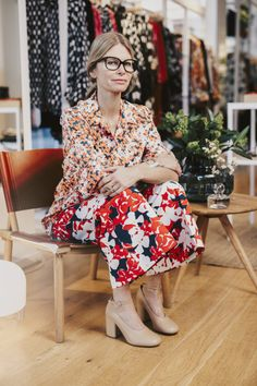 Street Chic, Street Style, Marimekko, Mixing Prints, Scandinavian Style, Style Icons, Summer Outfits, Spring Summer, Style Inspiration