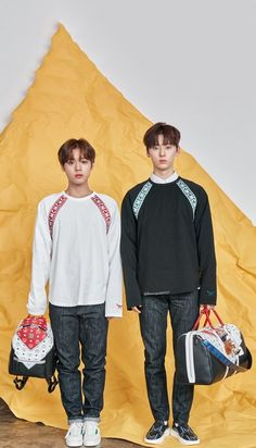 Wanna One x STAR1 Magazine Park Jihoon and Hwang Minhyun Wallpaper