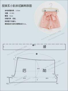 Molde para hacer shorts para niñas01
