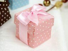 Pink 2pc Polka Dot Favor Boxes - 100 boxes | eFavorMart