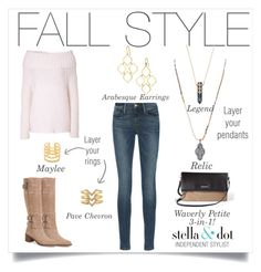 """""""Fall is for sweaters. Don't cover up, layer up! #falllayers #stelladotstyle #ilovelayers #sweaterstyle"""" by cathy-bartlett on Polyvore featuring Frame Denim, Donna Karan, Stella & Dot and Franco Sarto"""