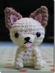 Hot to make a Amigurumi Chihuahua - Turorial Crochet Animal Amigurumi, Amigurumi Patterns, Amigurumi Doll, Crochet Animals, Crochet Dolls, Crochet Patterns, Cute Crochet, Crochet Crafts, Knit Crochet