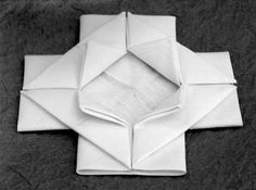 I was just contemplating this last week -- no joke. The History and Techniques of Napkin Folding