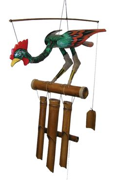 Add a charming farmhouse vibe to your home with the Cohasset Annie Rooster Wind Chime . This wind chime features a rooster with a bobbing head and hand-tuned. Wind Chime Parts, Wind Chimes For Sale, Wind Chimes Sound, Wind Chimes Craft, Garden In The Woods, Home And Garden, Bamboo Wind Chimes, Bamboo Crafts, Rooster Decor