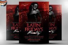 Latin Fridays Flyer Template 2 by FlyerHeroes on @creativemarket