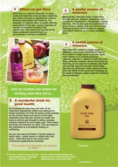Top 10 Reasons to Drink Aloe Vera Gel by Dr Peter Atherton MB ChB, DObst RCOG, FRCGB & Forever Living Products Advisory Board Member: No.s 4 - 1 (part 2)