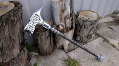 This is my weapon- A steel warhammer. I am fairly skilled at wielding it. My father is a blacksmith ( he is also a lecturer at a university- that's why Athena liked him) And he made it for me.
