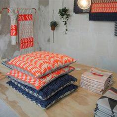 Mae Engelgeer Woww Cushion - Neon / Grey - TCH Store